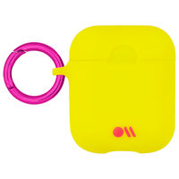 Case Mate Airpods Hook Ups Case and Neck Straps,  Lemon Lime Yellow