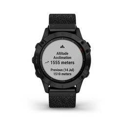 Garmin Fenix 6 Multisport GPS Watch Nylon Band, Black