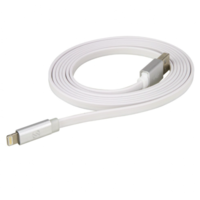Scosche Flatout Led Charge & Sync Lightning 6Ft Cable, White
