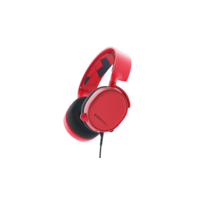 SteelSeries Arctis 3 Gaming Headset, Red