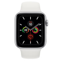 Apple Watch Series 5 40mm Silver Aluminium Case with White Sport Band, GPS