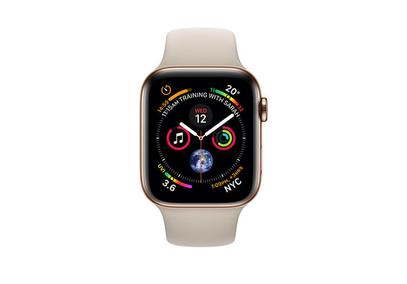 Apple Watch Series 4 44mm Gold Stainless Steel Case with Stone Sport Band