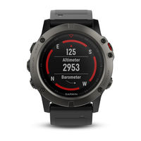 Garmin Fenix 5X Slate Gray Sapphire with Black Band