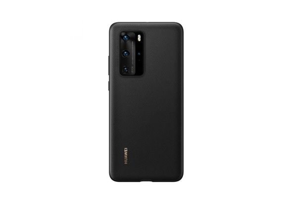 Huawei HUA-P40PRO-PU-BLk Smart Clear View Mirror PU Leather Shockproof Slim Case Cover Black