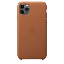 Apple iPhone 11 Pro Max Leather Case, Saddle Brown