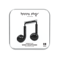 Happy Plugs Earbud Plus Wired Headphones, Carbon Fiber