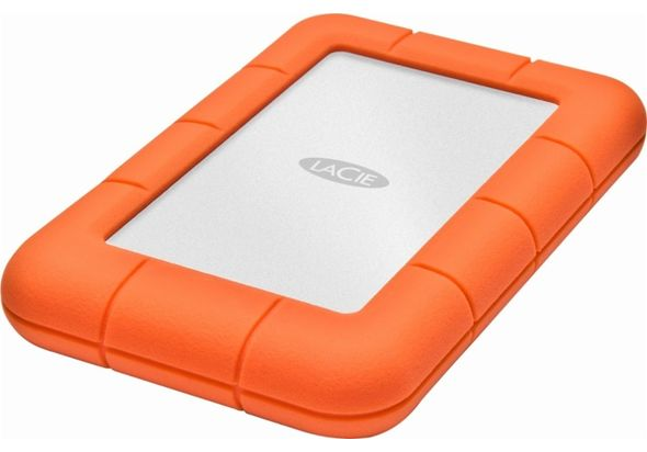 LaCie Rugged USB-C 2TB External USB 3.1 Gen 1 Portable Hard Drive