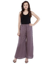 Pearly Women's Crepe Multi Printed Flaired Plazzo Pant (PP115), s, multicolor