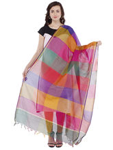 Pearly Women's Silk With Heat Set Pleat Work Molti Colour Dupatta (PDT108), multicolor