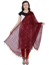 Pearly Women's Cotton Printed With Crinkeled Effect Smart Dupatta (PDT101), brown