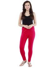 Pearly Women's Cotton Lycra Strachable Churidar Smart Fit Legging (PL102), l, fuchsia