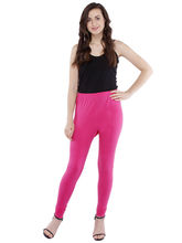 Pearly Women's Cotton Lycra Strachable Churidar Smart Fit Legging (PL109), s, pink