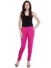 Pearly Cotton Ryon Full Length Smart Fit Trouser (PPA109), s, pink