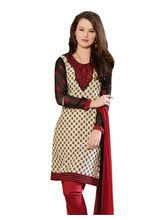 Sinina Cotton Embroidered Salwar Kameez Suit Unstitched Dress Material (24lwb281), black