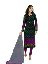 Sinina Women's Cotton Printed Straight Salwar Kameez Unstitched Dress Material (SGP811), multicolor