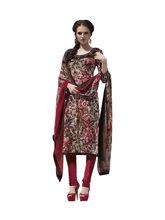 Sinina Crepe Embroidered Salwar Kameez Suit Unstitched Dress Material (123Tanyg6406A), multicolor