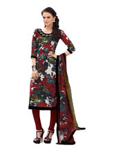 Sinina Crepe Embroidered Salwar Kameez Suit Unstitched Dress Material (123Tangy6403B), multicolor