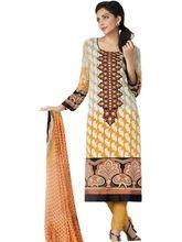 Sinina Pure Crepe Salwar Kameez Suit Unstitched Dress Material (Fcsapphire6395), multicolor