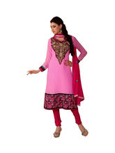 Sinina Georgette Salwar Kameez Suit Semi Stitched Dress Material (104Tangy109), pink