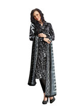 Sinina Crepe Embroidered Salwar Kameez Suit Unstitched Dress Material (123Tangy6415A), black