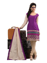 Sinina Cotton Embroidered Salwar Kameez Suit Unstitched Dress Material (RH18PK06), purple