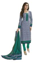 Sinina Women's Cotton Printed Straight Salwar Kameez Unstitched Dress Material (SGP839), green