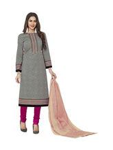 Sinina Women's Cotton Printed Straight Salwar Kameez Unstitched Dress Material (SGP716), multicolor