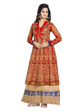 Sinina Georgette Salwar Kameez Suit Semi Stitched Dress Material (Nag6404), red