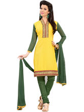 Sinina Cotton Embroidered Salwar Kameez Suit Unstitched Dress Material (RH21PK01), yellow