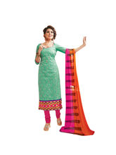 Sinina Cotton Embroidered Salwar Kameez Suit Unstitched Dress Material (Skmannat636), green