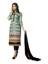 Sinina Cotton Embroidered Salwar Kameez Suit Unstitched Dress Material (Skmasha682), multicolor
