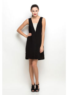 Front Sequined Dress,  black, s