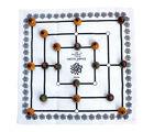 Ancient Living Daadi Game, Navakankari, Nine Men's Morris Board Game