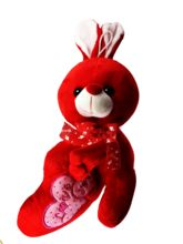 Famous Bazaar Musical Teddy Bear, Red