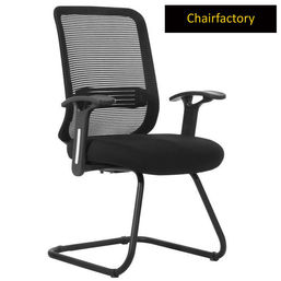 Mosker Mid Back Fixed Visitor Chair - Black