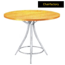 Amelia Bistro Round Table, 2  diameter laminated top with 3 leg stand base