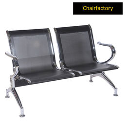 Alps 2 Seater Black Waiting Area Bench