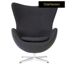 Arne Jacobsen Style Egg Grey Chair Replica