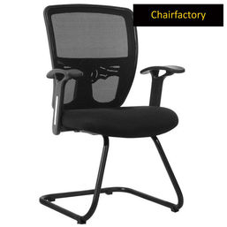 Smartdesk Mid Back Visitor Fixed Chair - Black