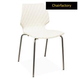 Crystalite Modern Café Chair - White