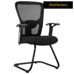 Swiss Mid Back Visitor Fixed Chair - Black