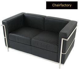 Le Corbusier Petit Comfort Replica Two Seater Sofa, pink