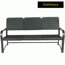 Roxy Black Outdoor Bench - 3 Seater