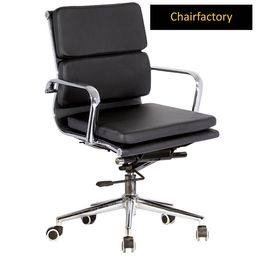 Black Eames Soft Pad Chair MB Replica