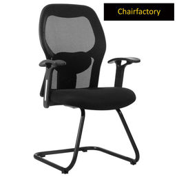Krono Mid Back Visitor Fixed Chair - Black