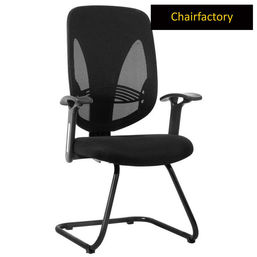 Ergotech Mid Back Visitor Fixed Chair - Black - Black