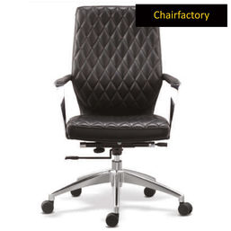 Gustav ZX Mid Back Leatherette Chair - Black