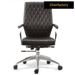 Gustav ZX Mid Back Leatherette Chair - Black
