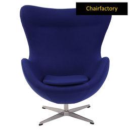 Arne Jacobsen Style Egg Royal Blue Chair Replica