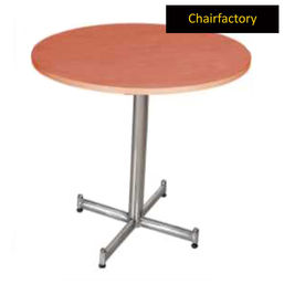 Melrose SS Canteen Table with Round Laminated Top, 3  diameter laminated top